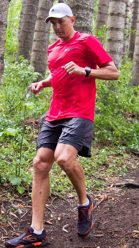 teamEMS trail runner in Hawaii