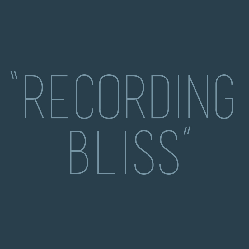 """Recording bliss - high class with ease"" - Ruth Trimble"