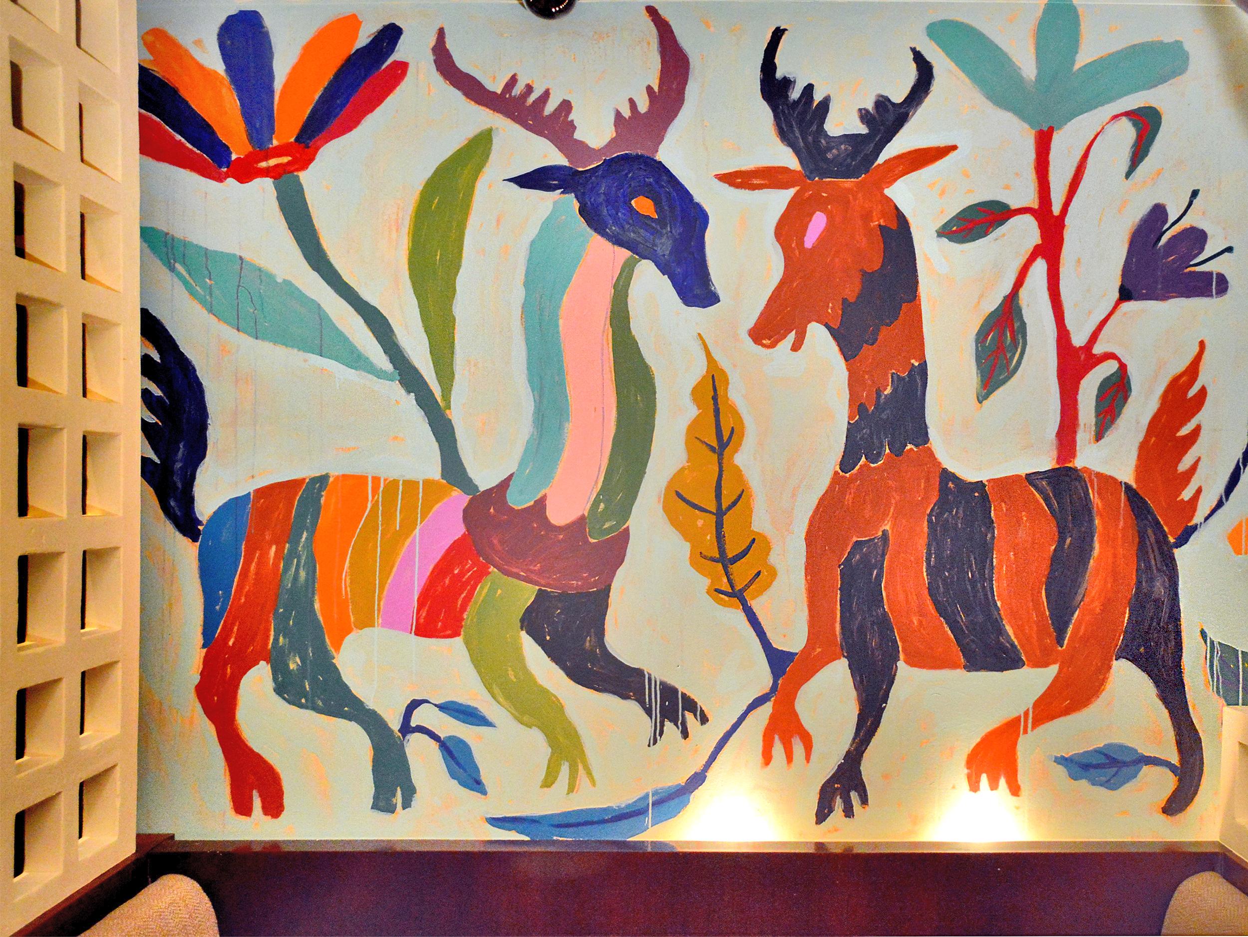 Dos Caminos Restaurant, Mural, Park Ave, NYC