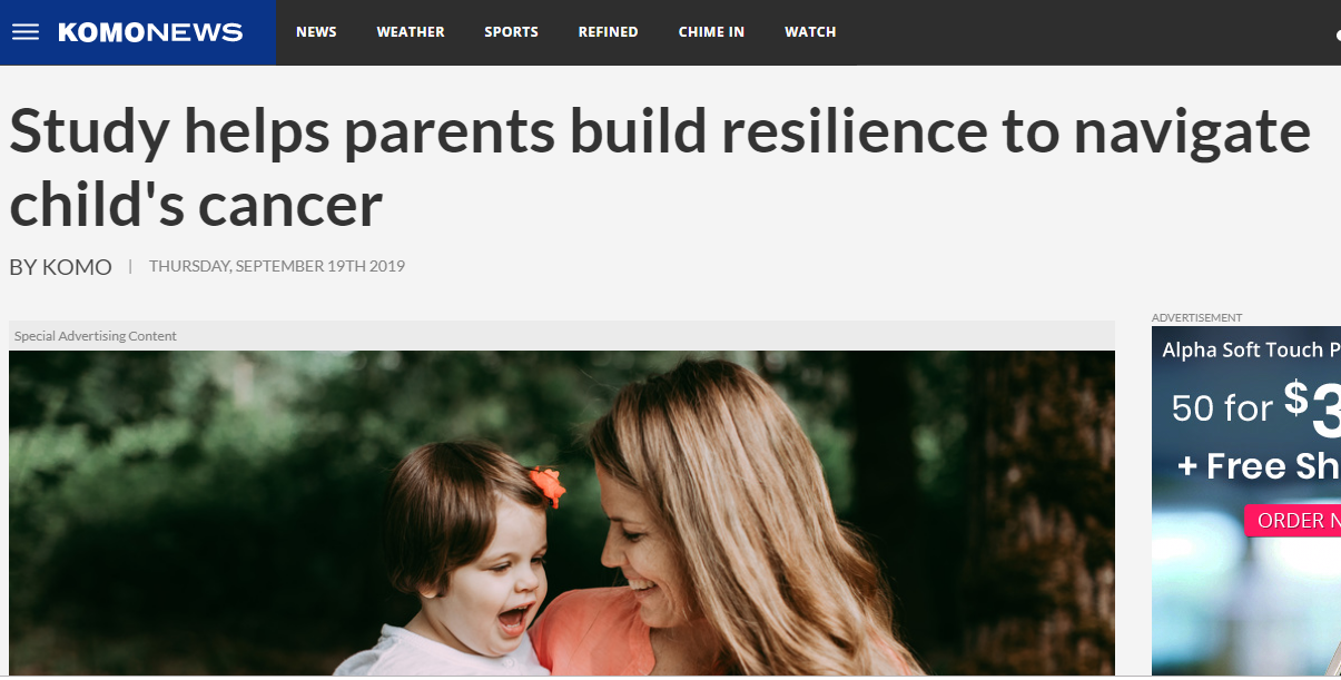 STCC Founder shares about opportunity she had to participate in study to build resiliency while her daughter was in inpatient chemotherapy. - Sept 2019We encourage you to read more about this study and how important contributing to psychosocial research means to our Founder on link below.https://komonews.com/sponsored/spotlight/study-helps-parents-build-resilience-to-navigate-childs-cancer