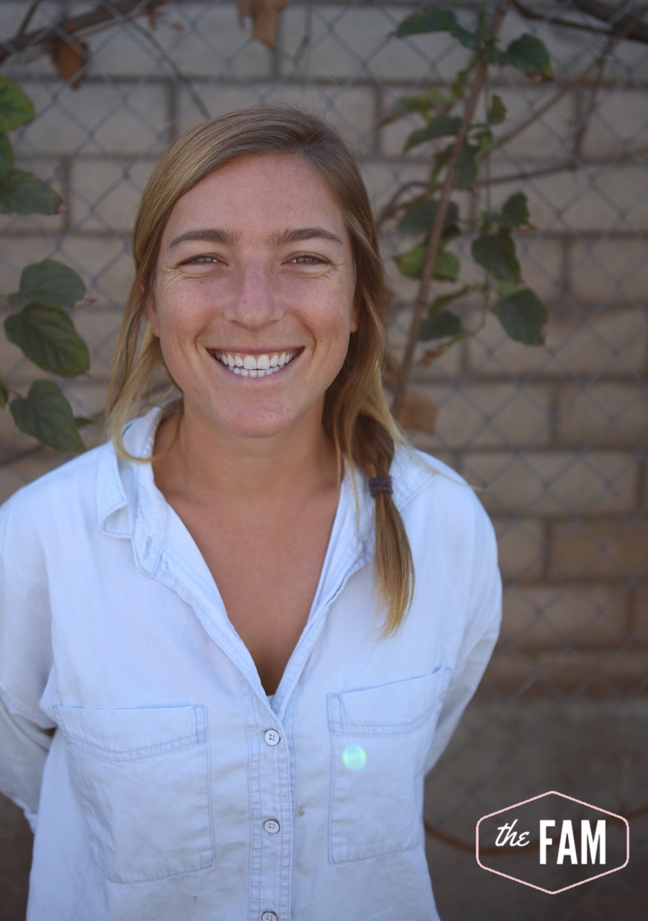 Natalie Lawrence - Hey FAM! I work for Fellowship of Christian Athletes where I specifically run a soccer ministry. I coach soccer all over Orange County and work with female athletes of all ages. I grew up in Southern California and played soccer at Point Loma Nazarene University where I studied exercise science and theology. My passion is to encourage others and bring them closer to Jesus! I also love all things my husband, Lakers, and the ocean!