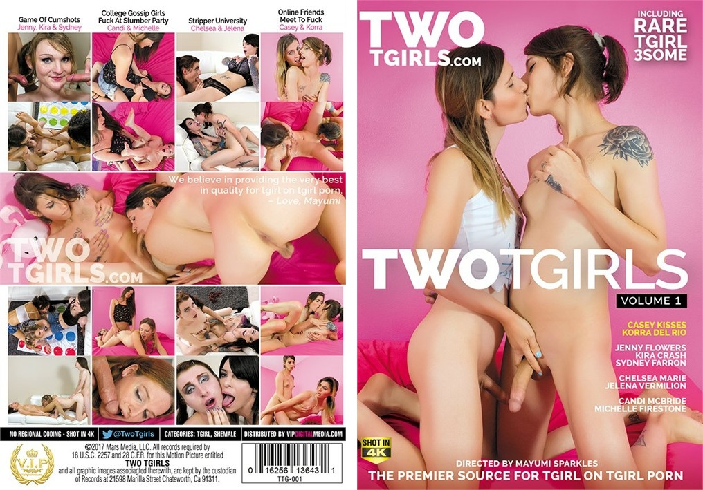 Two Tgirls Vol. 1  Made AVN's Top 50 Overall Specialty Titles - April 2017   https://twitter.com/VipDigMedia/status/850150661241028609