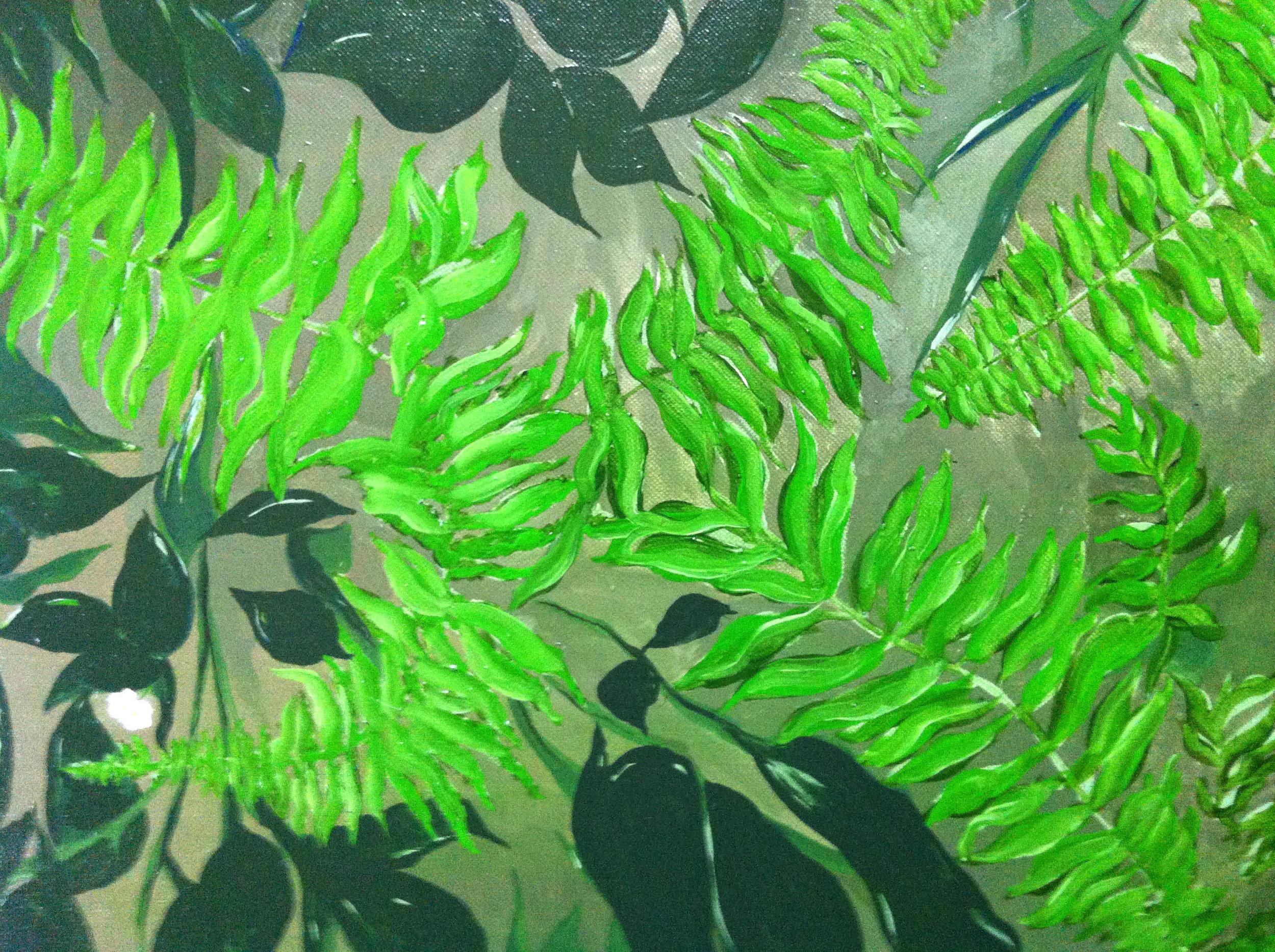 "Dark Fern oil on canvas 20"" x 16"""