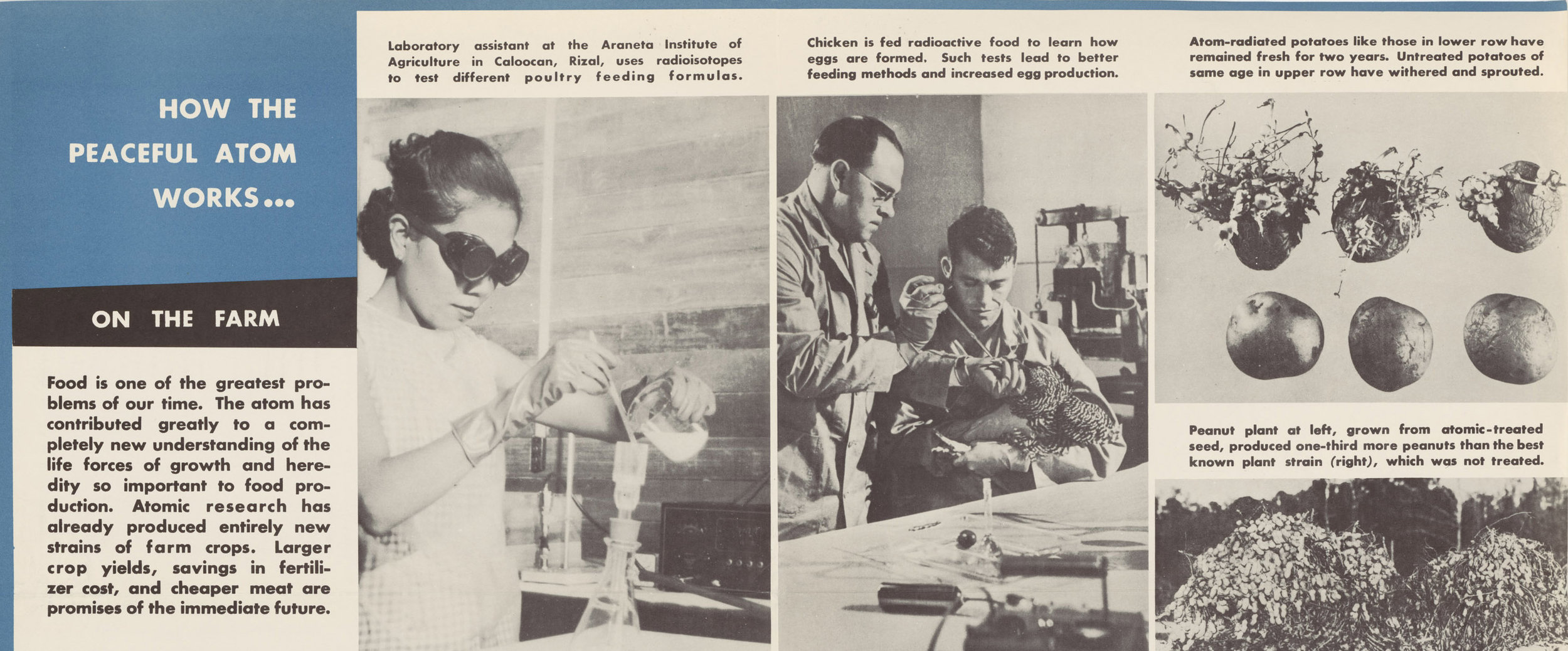 Propaganda poster for Eisenhower's Atoms for Peace Program.  (National Archives)