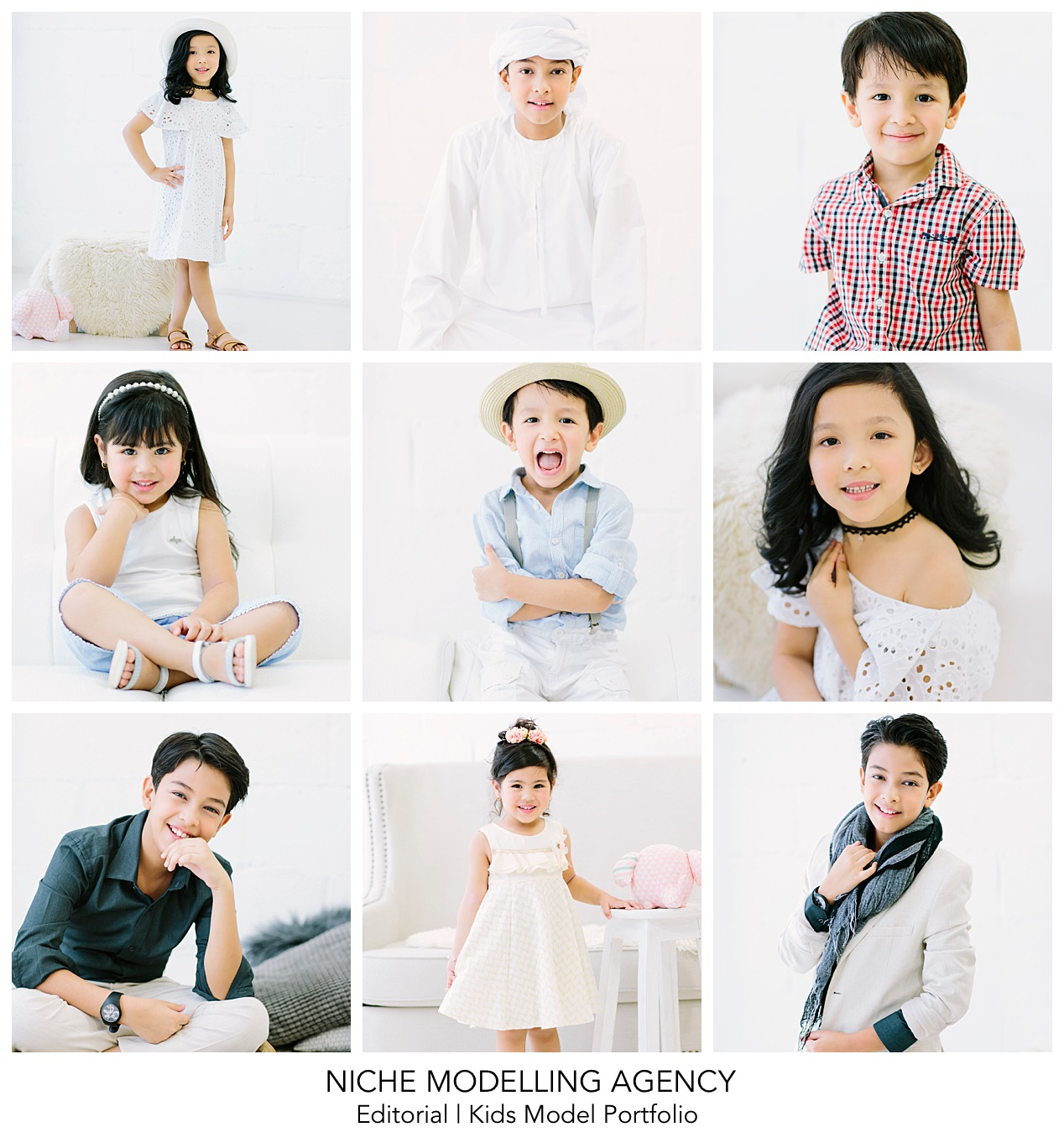 - Give your kids a fun summer to remember and sign them up for a model portfolio experience shoot with Enchanté Studios in partnership with Niche Modelling Agency.1 hour portfolio shoot | 3-outfits (white shirt and jeans | casual wear | fashion wear) | receive all images from session with light editingJune 15th, 22nd and 29th only - limited sessions available 750AED - special summer promo exclusive to Niche Modelling Agency.