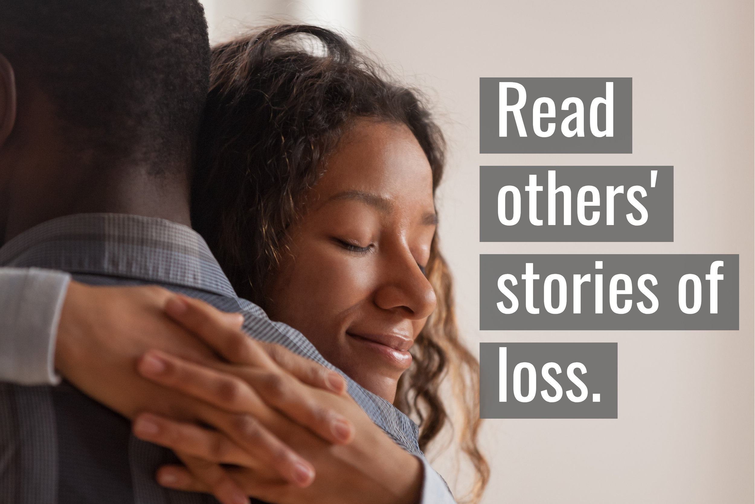 Stories can help guide us down the path to comfort.