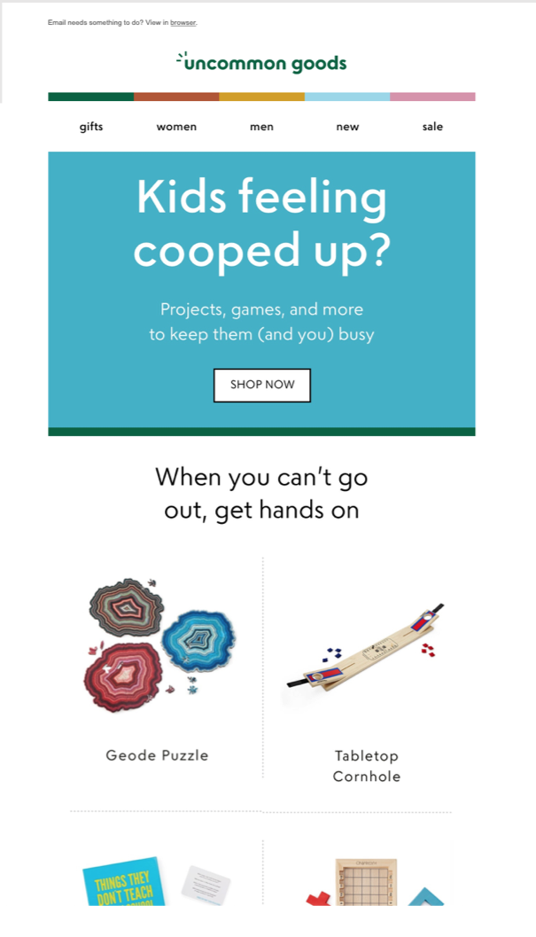 Uncommon Goods email