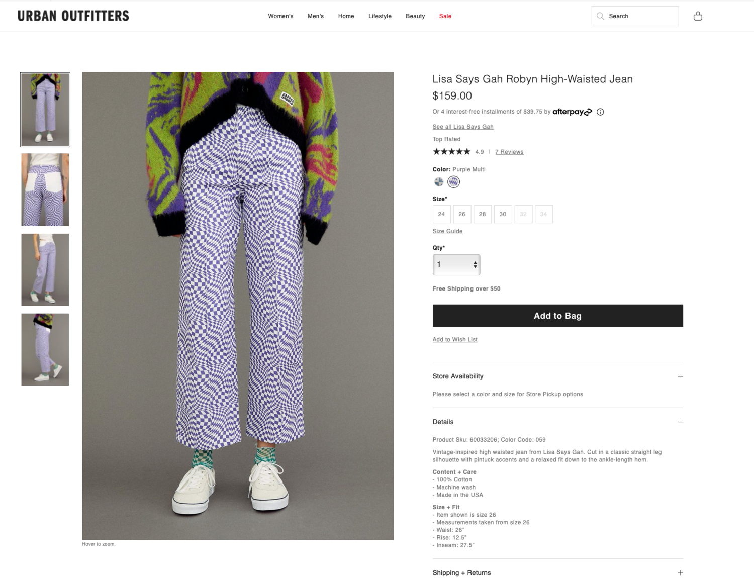 Urban Outfitters product page