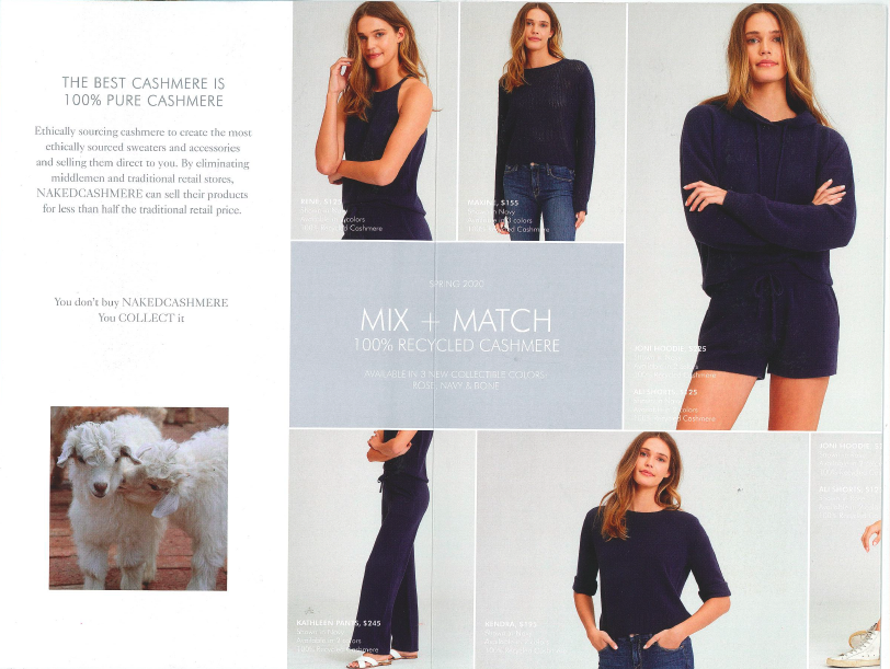 Naked Cashmere direct mail