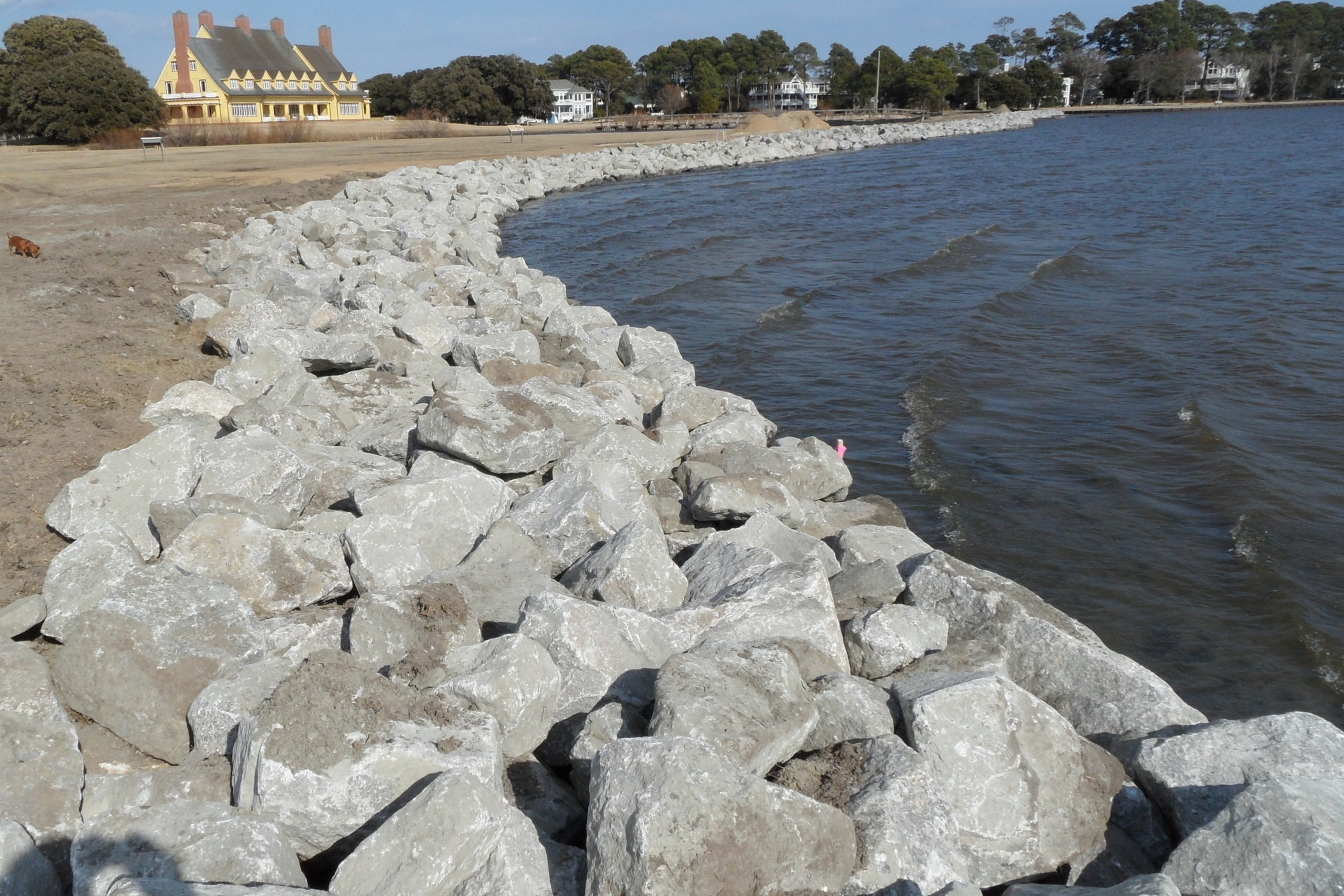 Shoreline Stabilization - Provide concrete or granite rip rap that protects your shoreline from erosion.