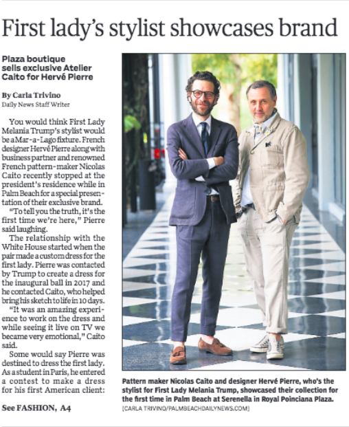 Atelier Caito for Herve Pierre Coverage