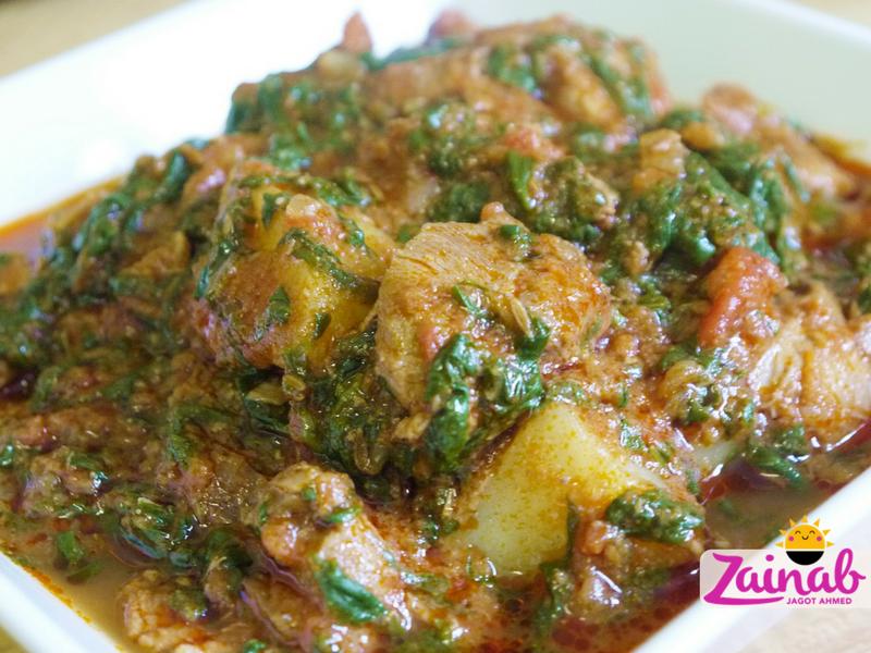 Lamb Saag Aloo Curry
