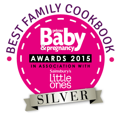 Best family cookbook silver awards sticker