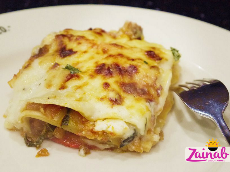 Roasted Veg Lasagne with herby white sauce