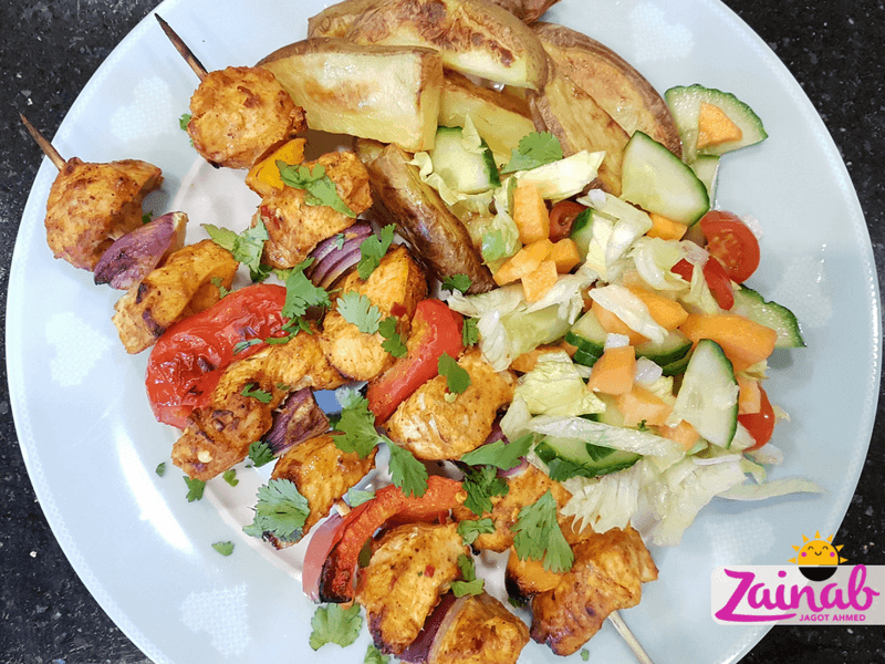 Turkish Chicken Shish Recipe - Family Meal and Baby led Weaning Meal Idea, Halal Baby Food, Slimming World Inspired, Syn free, fakeaway