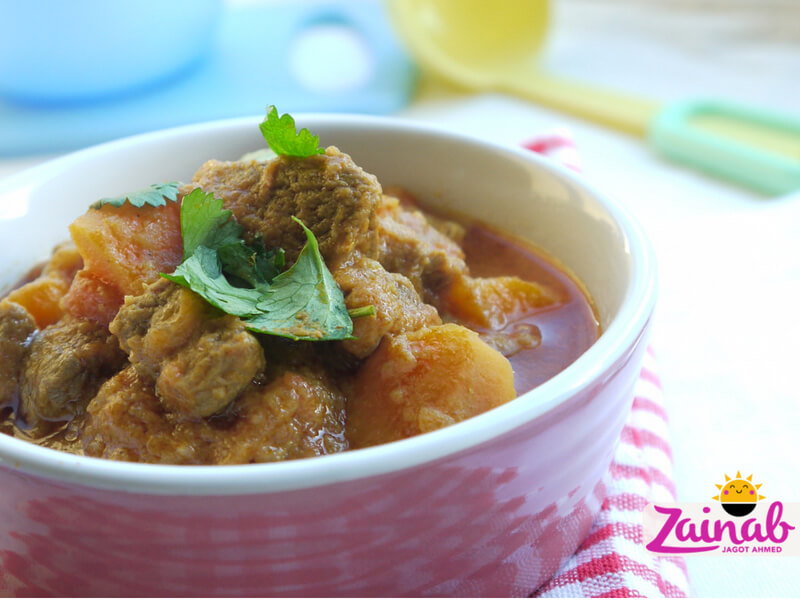 Lamb and Sweet Potato Curry for babies and toddlers, halal baby food, baby food, recipe, weaning, stage 3 10+ months