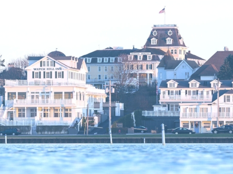 - chic meets shoreline - - watch hill inn