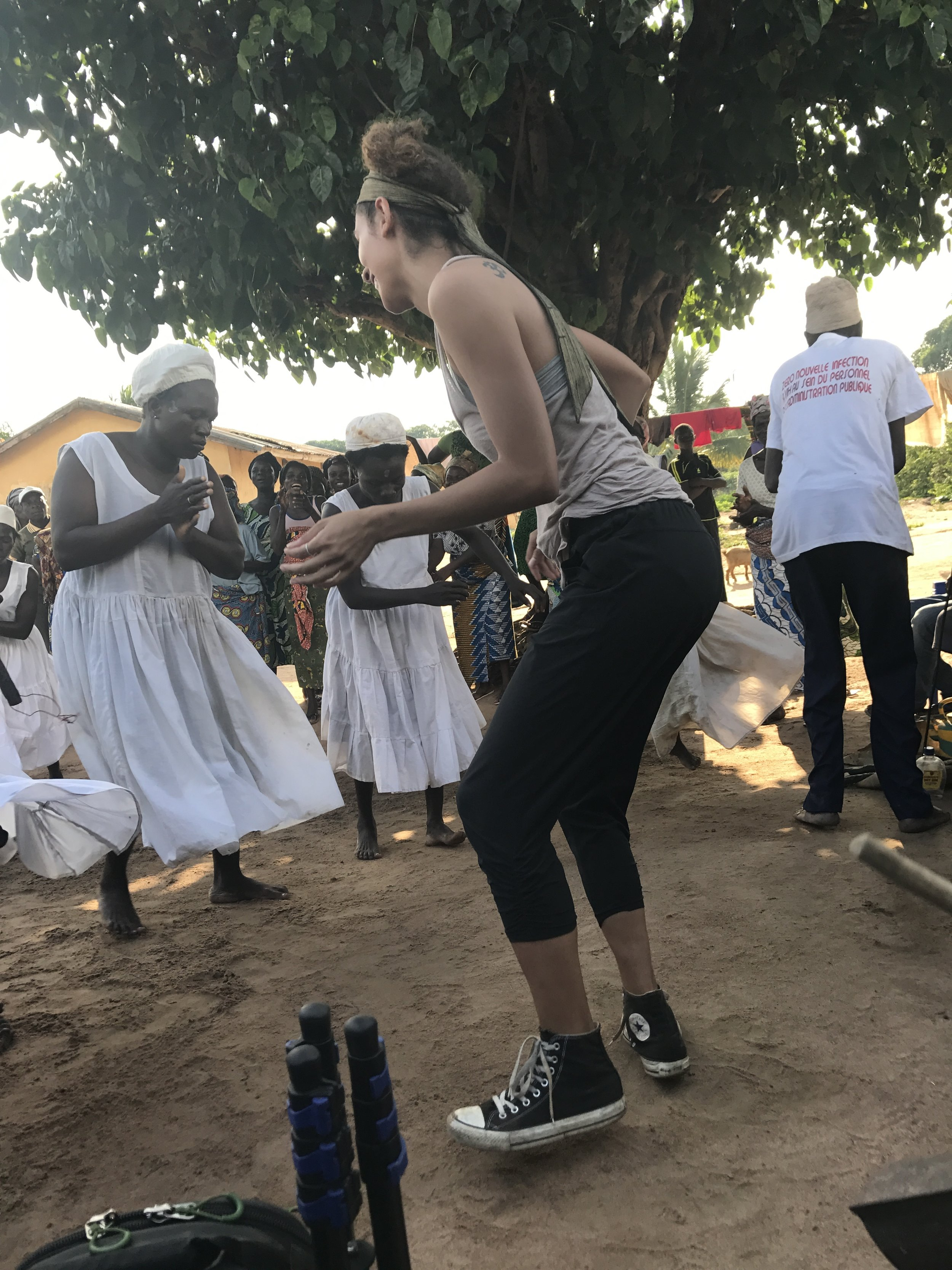 Dancing with a villages Fetishes (spiritual women)