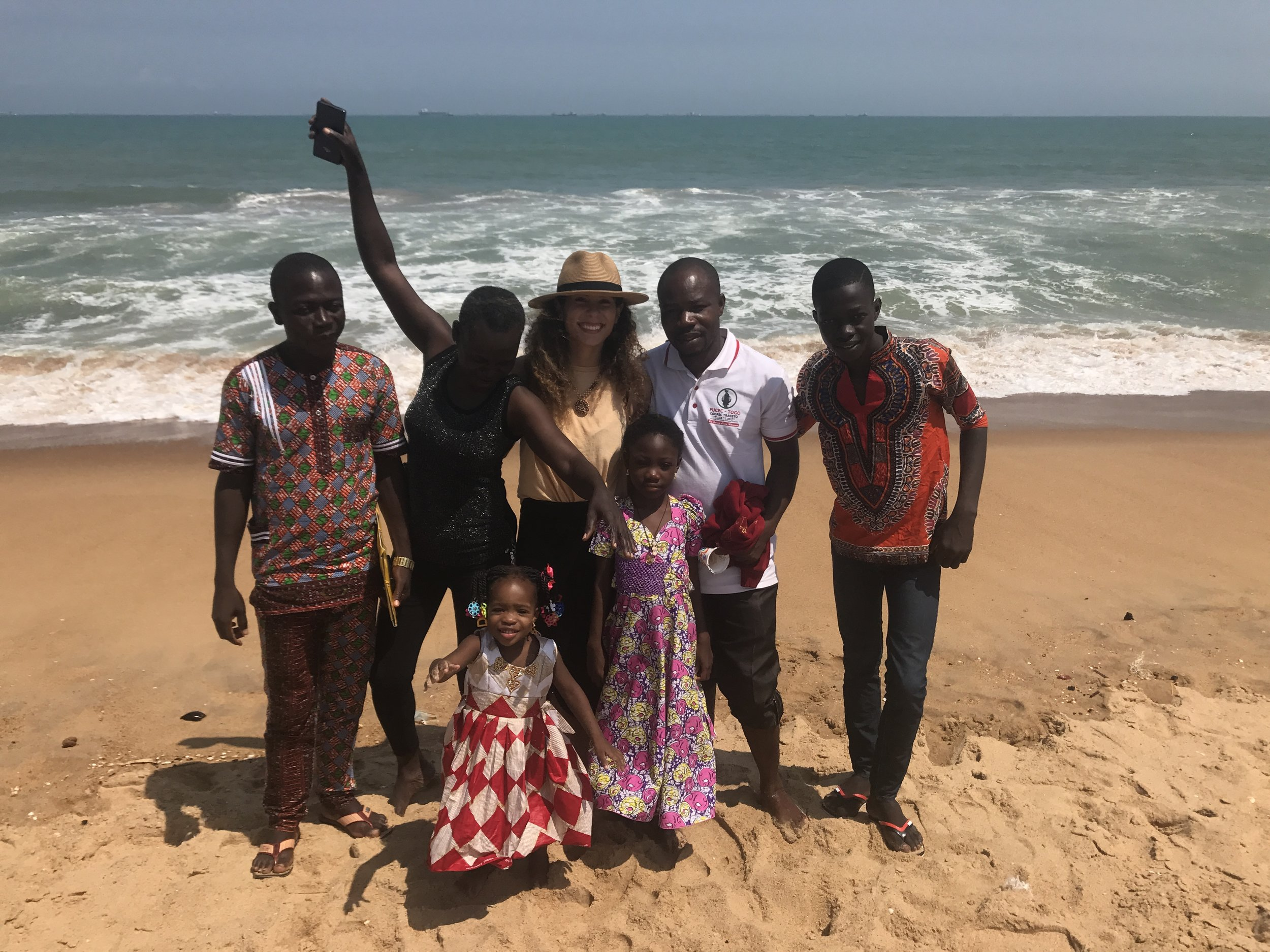 Before returning home we stopped at the beach in Lome