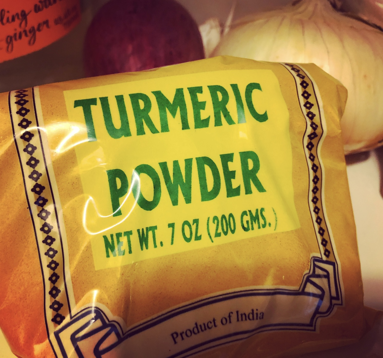 I buy my turmeric at my local grocery store in this handy packet.