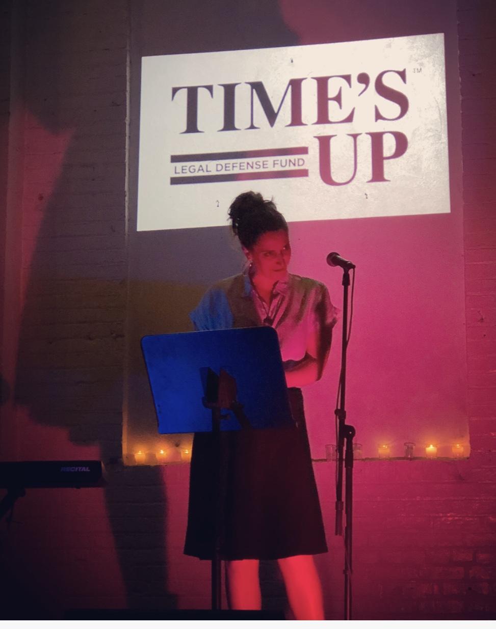 Actor Alli Blair reciting a power original poem.