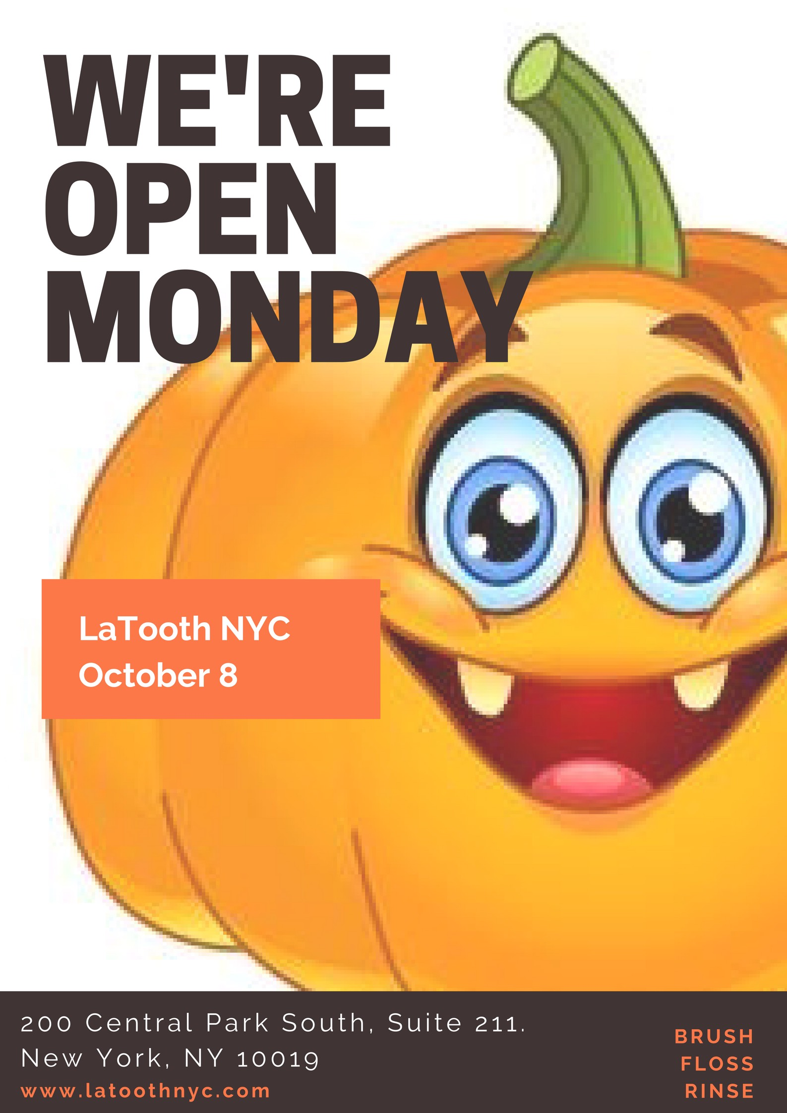 Don't let your smile get like Mr. Pumpkin's. Come see us!