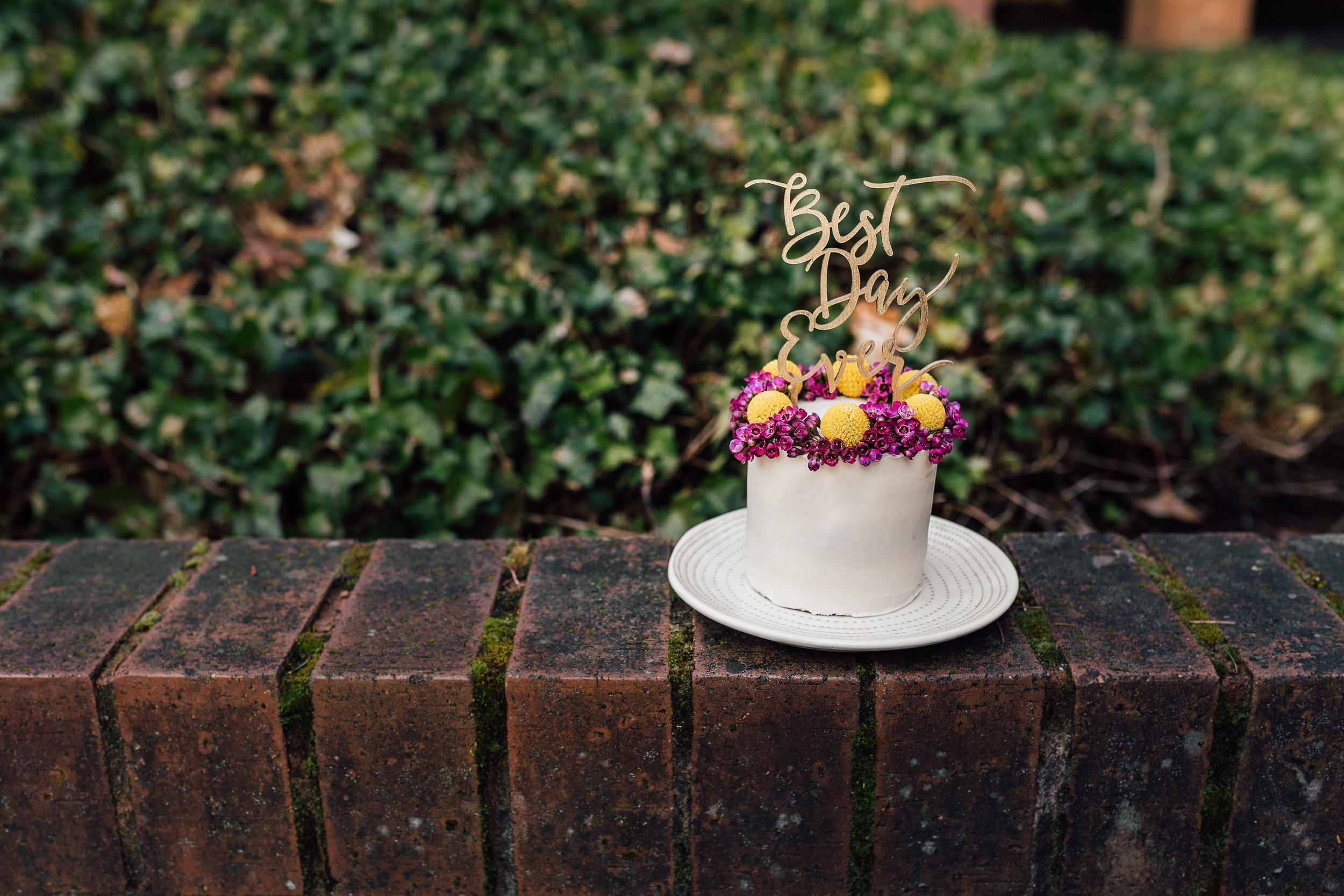 A mini wedding cake for two. Love never looked so SWEET!