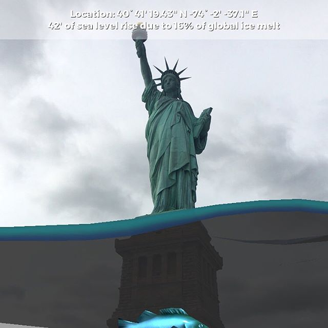 ‪The future is stark, let's change it now. #AfteIce #ActOnClimate #ClimateAlliance #statueofliberty #LadyLiberty #SaveNYC #climatechange‬