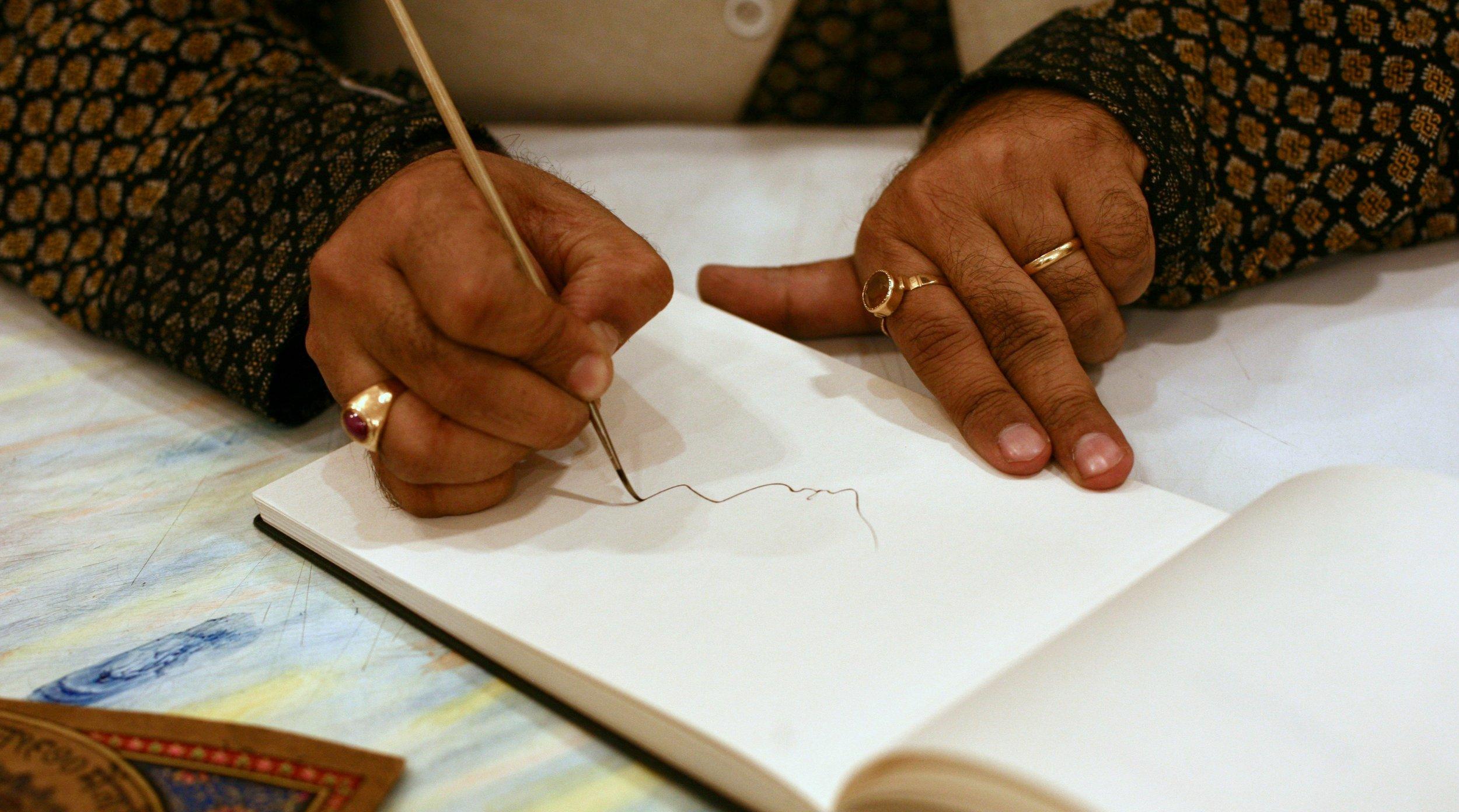 Sri Ramu Ramdev, painting demonstration
