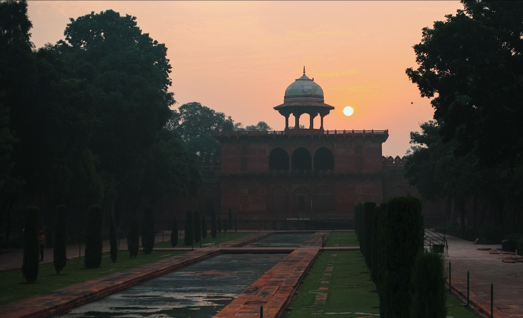 Sunrise over the East Gate: choose a 6am tour to avoid the crowds and the heat!