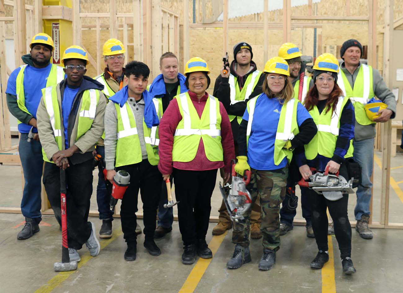 About 20 new students enroll in job training at Colorado Homebuilding Academy every month. They're training for entry-level jobs in construction.