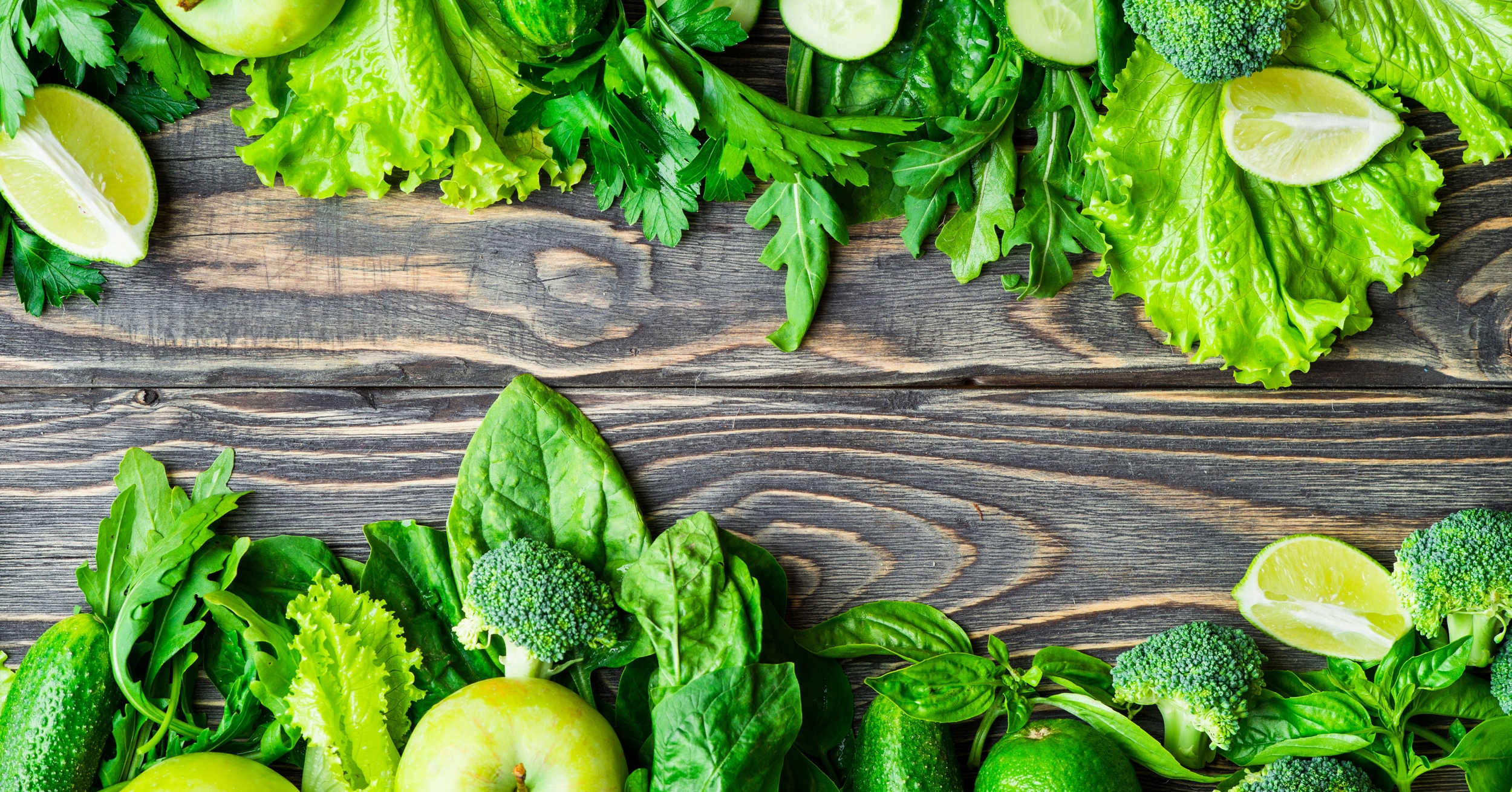 Going plant-based could prevent a third of early deaths. Healthy green fruits and vegetables.