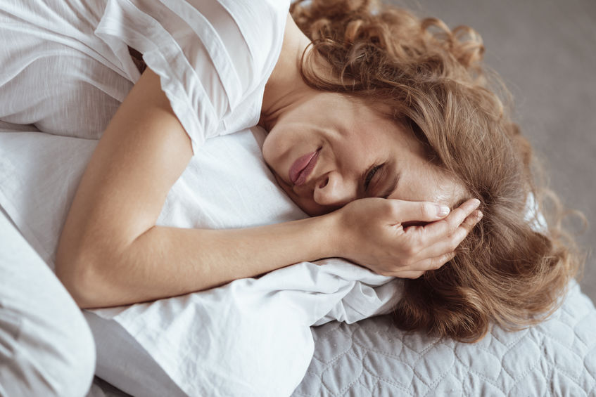 Right sided throbbing migraine