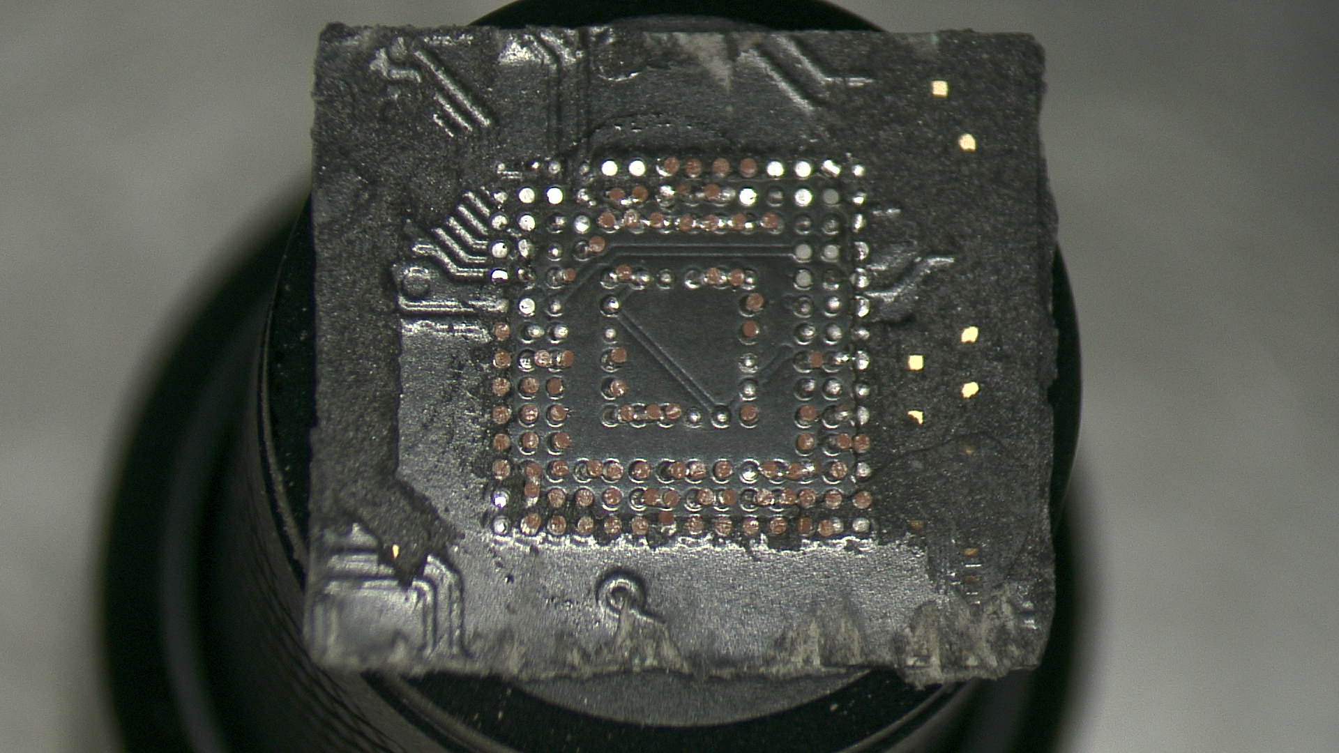 Desoldered BGA chip that need to be cleaned then reballed