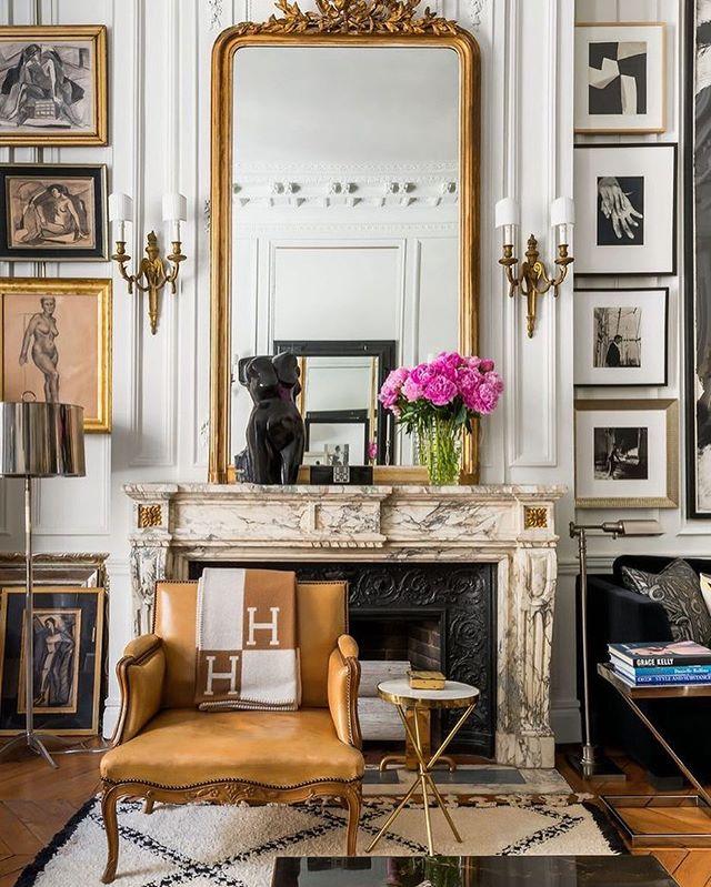 Paris Perfection! Design by David Jimenez and featured in Traditional home. 💕 #paris #design #interiordesign #decor #antiques #designinspo #architecture