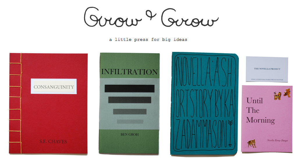Founding Editor of Grow & Grow (Toronto, ON) - Active Fall 2012 - Winter 2014Completed all editing, layout & design, book design & book-making, marketing & promotions, and online & book fair salesProduced six chapbooks, including poetry, visual art, and cross-genre collaboration