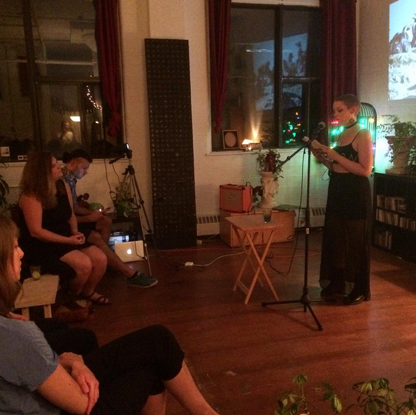 Reading at the Montreal Desert Pets Press launch (photo by @desertpetspress)