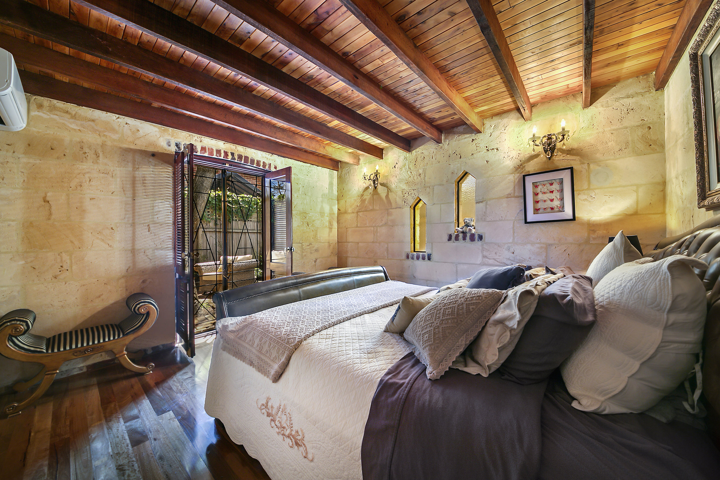 Photograph of bedroom in a Subiaco house, sold by deceased estates specialist Simon Blake-Graham