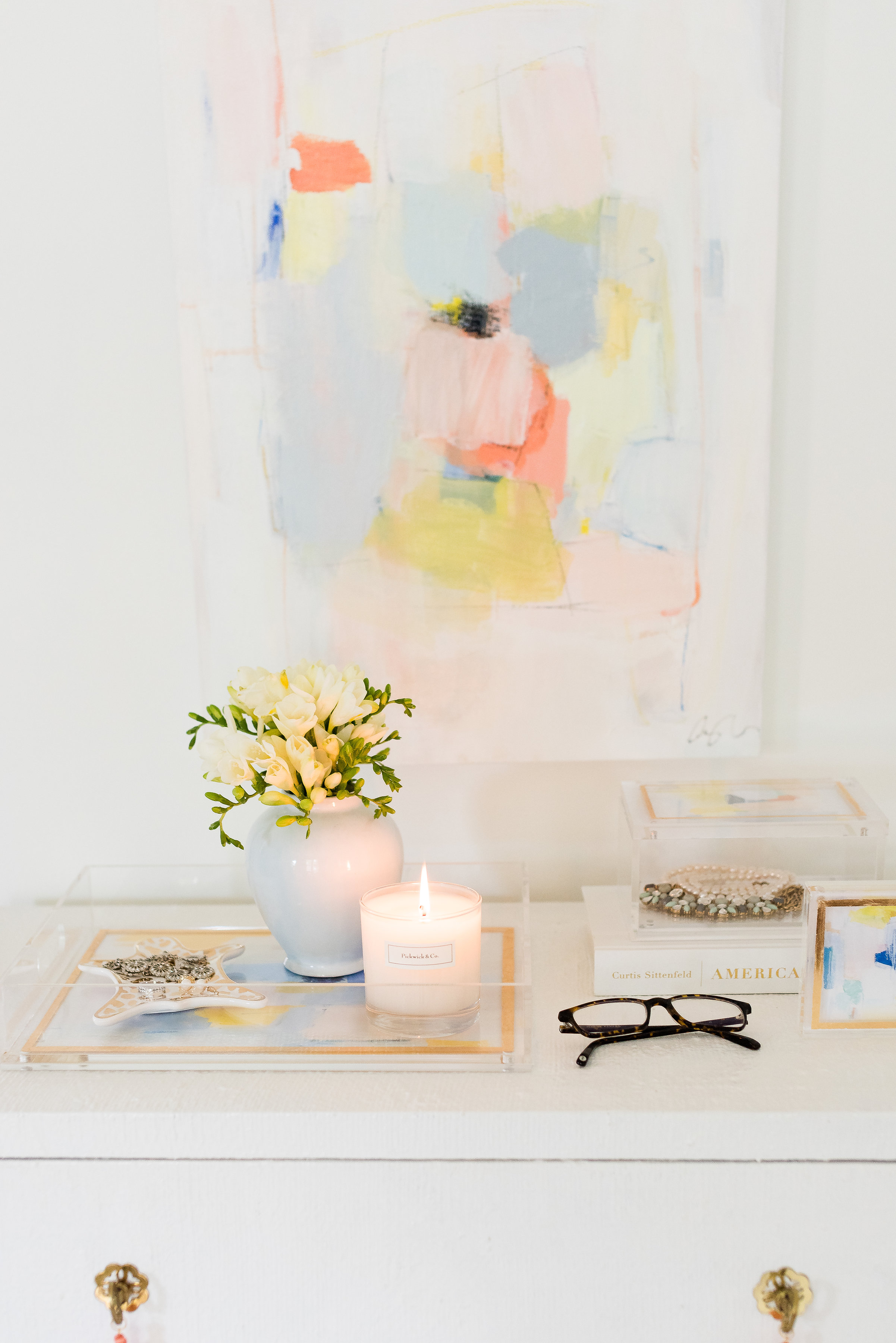 Pastel Abstracts Master Bedroom