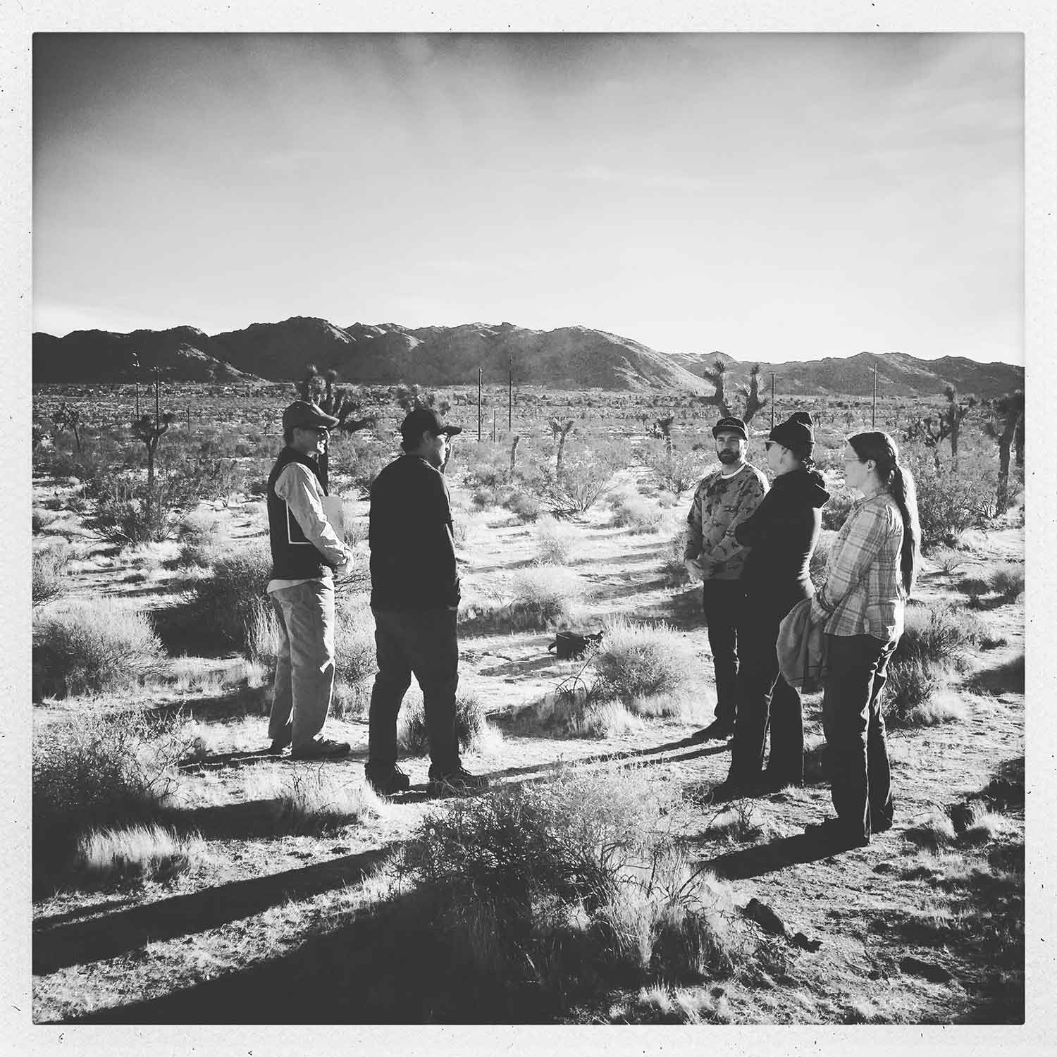 Rough Play Projects Artist Site Meeting with Mojave Desert Land Trust - Reading the Landscape Technician, 2018