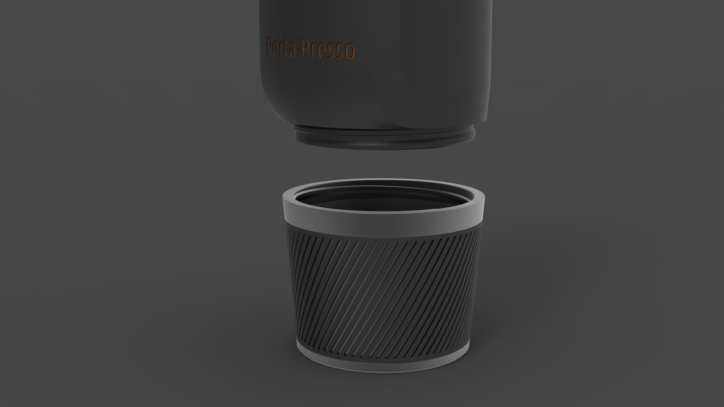 Drinking cup - The Porta Presso Cup has been intuitively designed so that it is sleek and minimal, yet it fits into a standard cup holder. The Porta Presso cups come in an assortment of colours so that you can get the cup that is right for you. The cup is able to be seamlessly attached and detached from the Porta Presso machine, curating a whole new user experience.