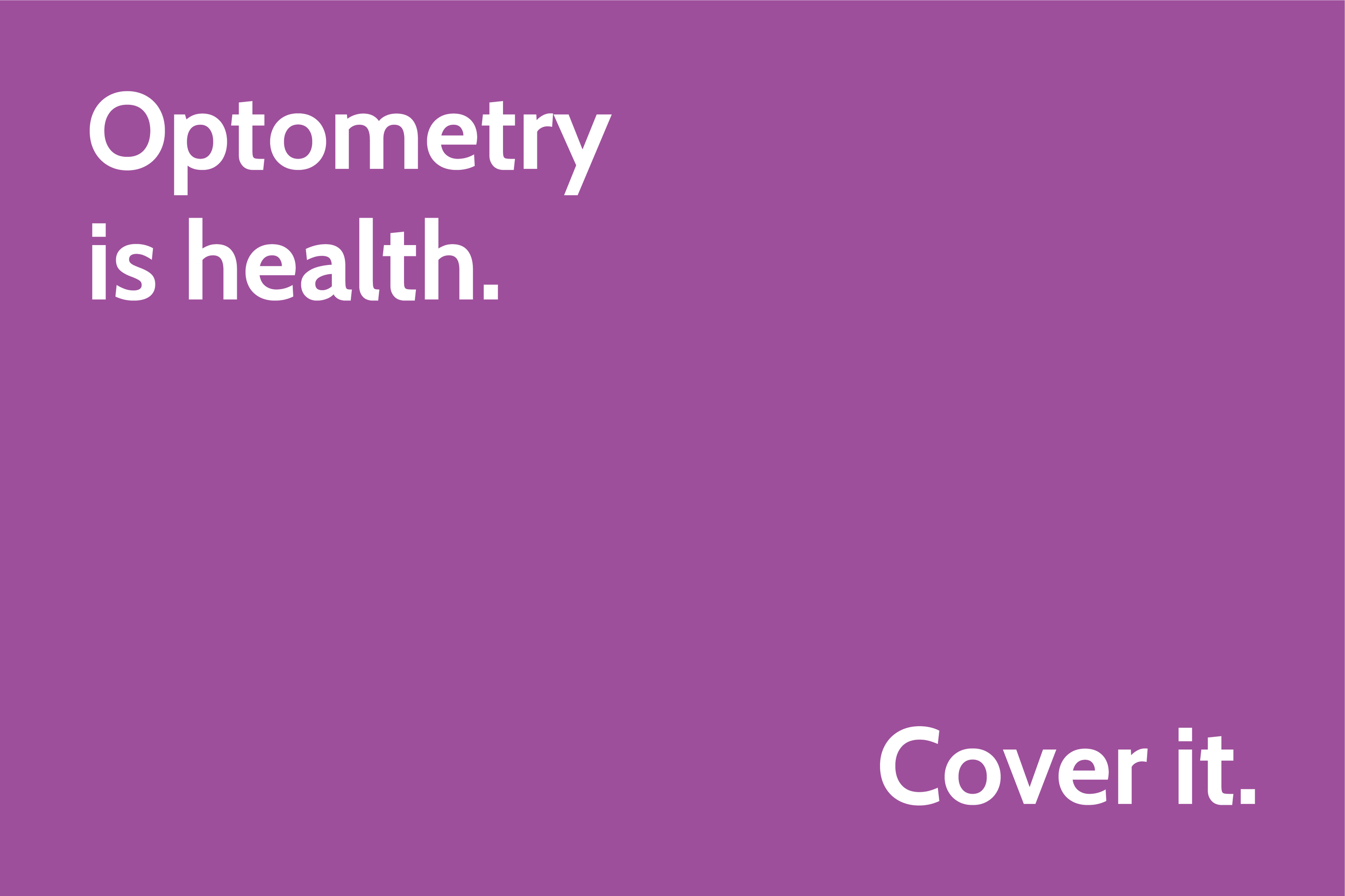 Optometry is health. Cover it.png