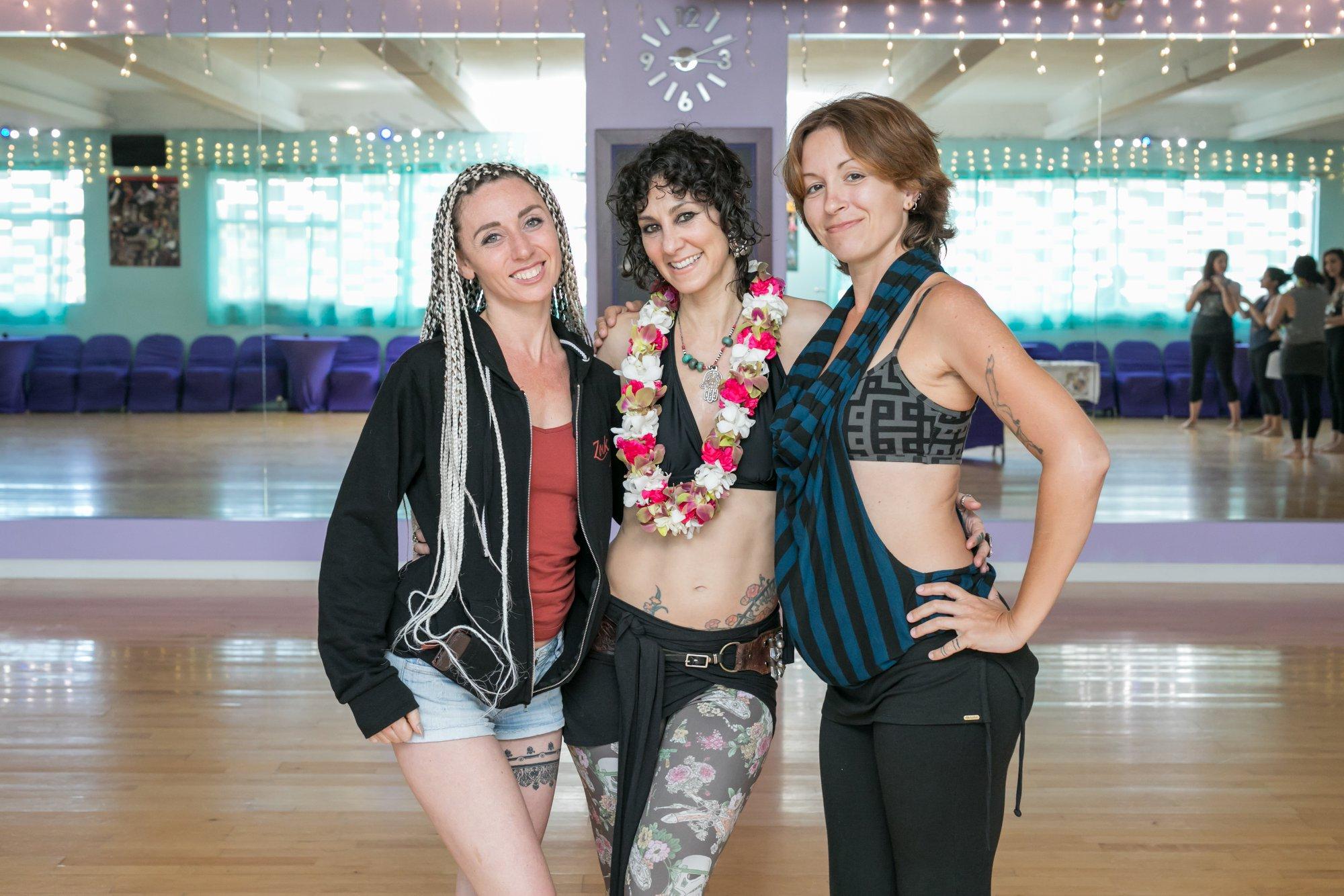 Stephanie Bolton, Rachel Brice, and Aly Kat