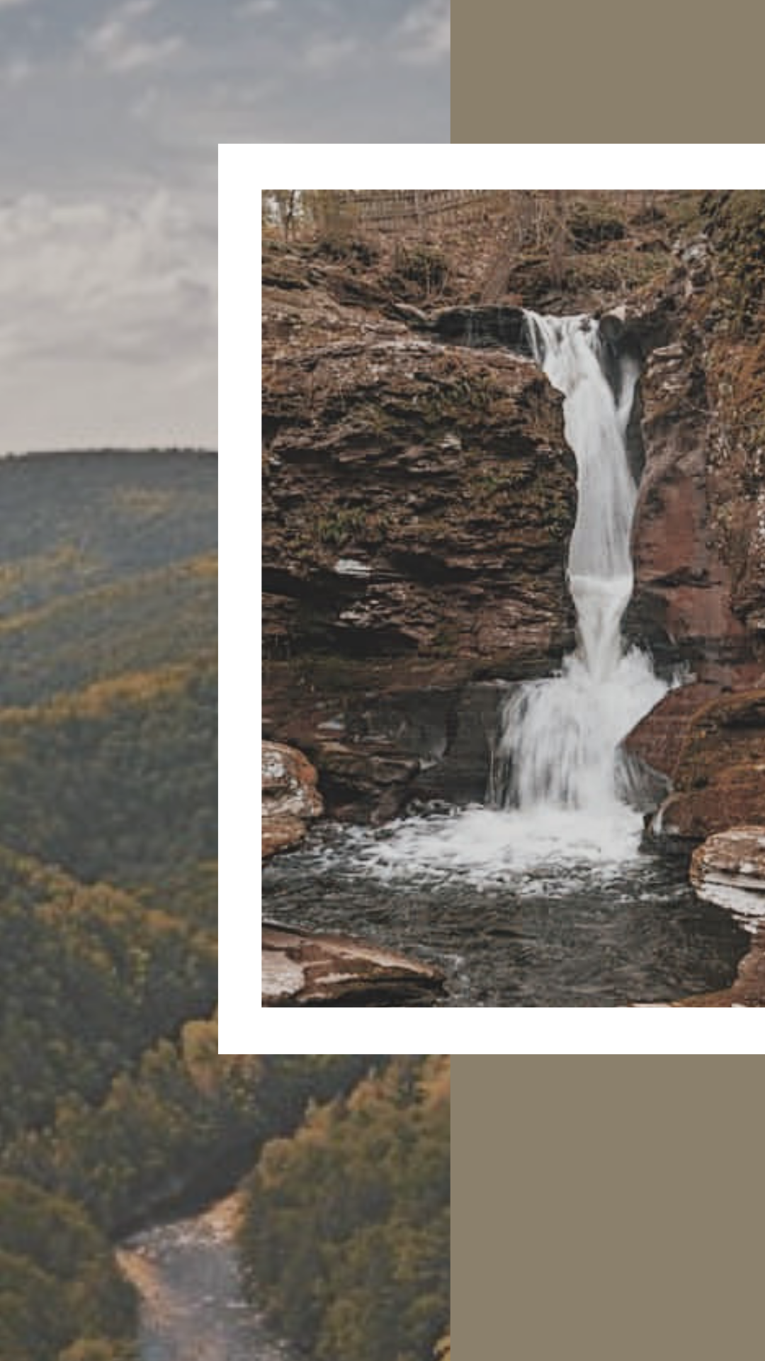 Photos of different views to be found in Ricketts Glen State Park. Benton, PA.