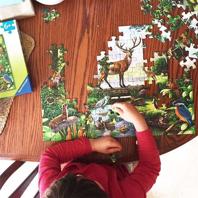 This kid is a straight up puzzle addict. #cantstopwontstop #puzzles #ravensburger