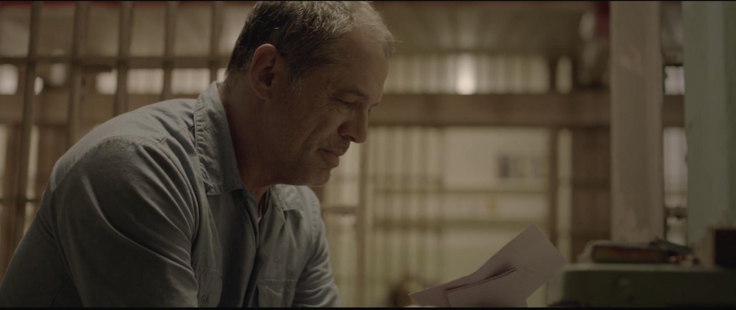Actor Chuck McCollum as Tony, in his cell at Alcatraz.