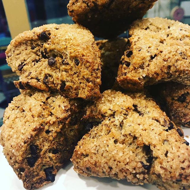 If you're a fan of our scones, you don't want to miss these brand new Mocha Chip 😍 Grab one 6-6 today! #thedessertfairy #westislip #sweetshop #customcakes #customtreats #scones #mocha #coffee