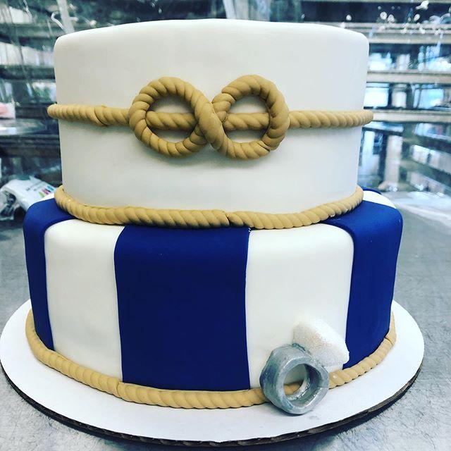Nautical engagement party cake 💍#thedessertfairy #westislip #sweetshop #customcakes #engagementparty #nautical #engagementring