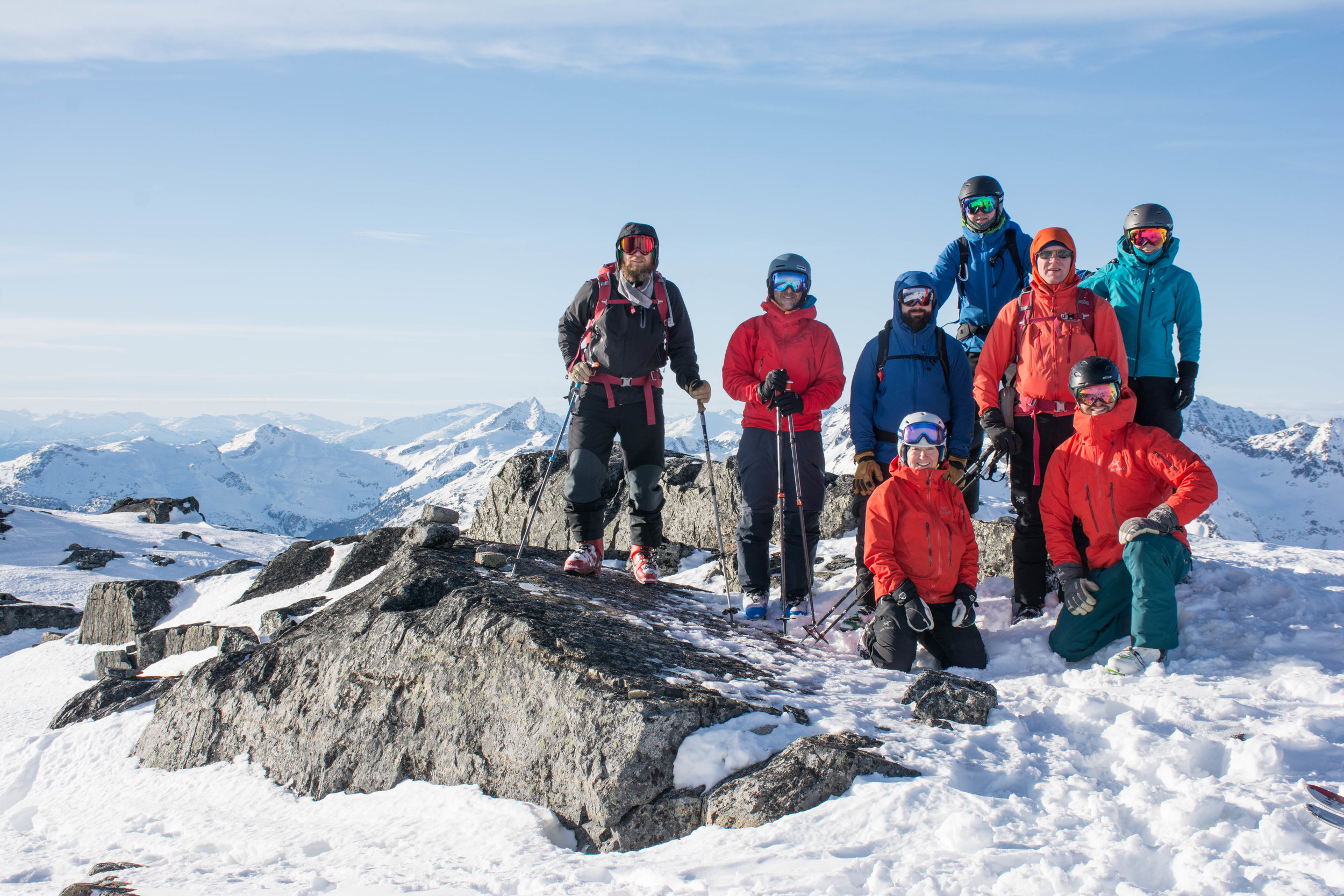 Group shot on the Summit of Rohr
