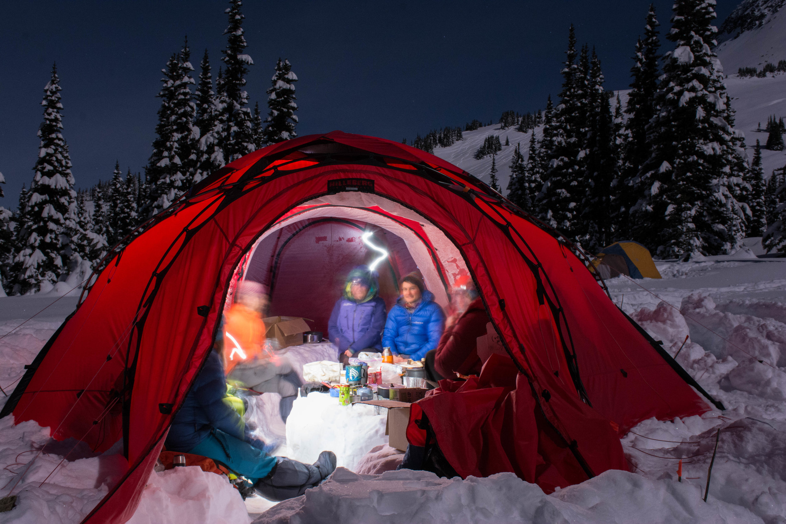 A view from the outside at the spacious inner of our dome tents. Photo Rich So.